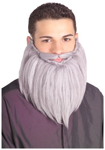 Grey Wizard Beard and Mustache
