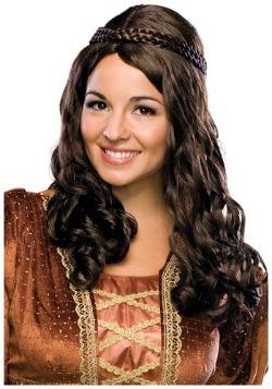 Renaissance Girl Brown Wig