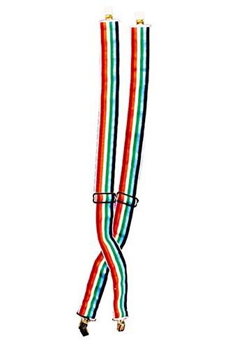 Rainbow Clown Suspenders