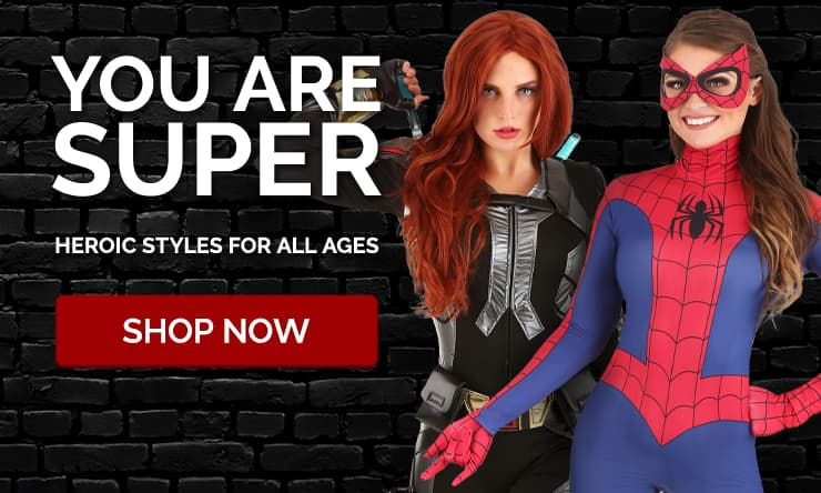 Black Widow and Spider-Man Costumes